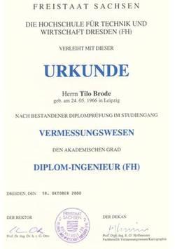 Diplomurkunde - Tilo Brode